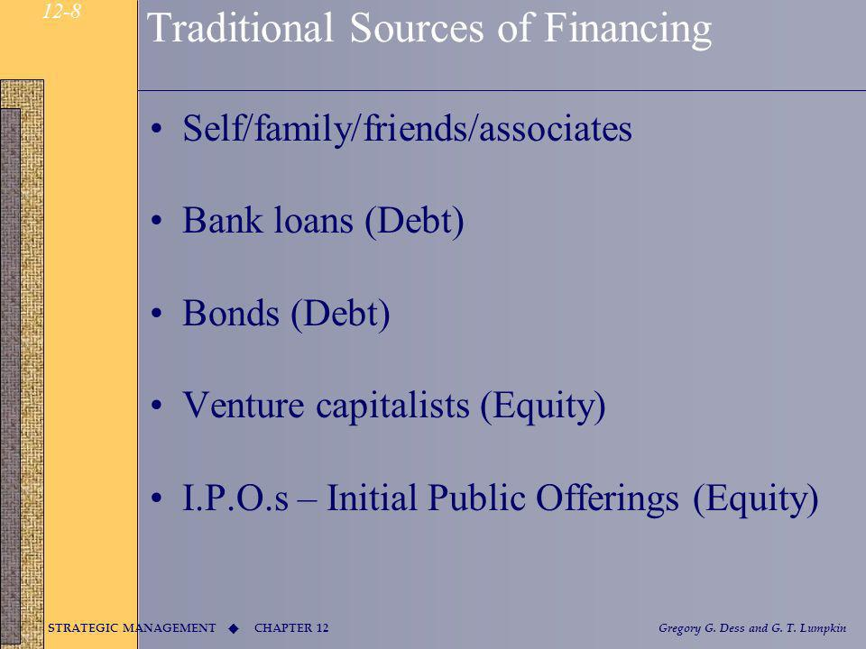 Traditional Sources of Financing