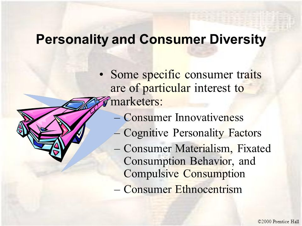 Personality and Consumer Diversity