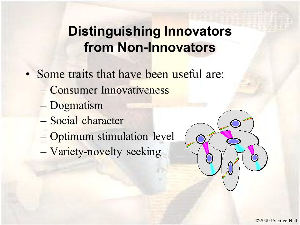 Distinguishing Innovators from Non-Innovators