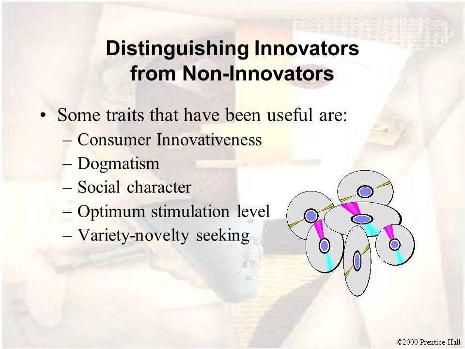 Distinguishing Innovators from Non-Innovators