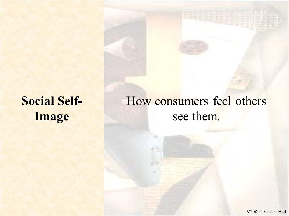 How consumers feel others see them.