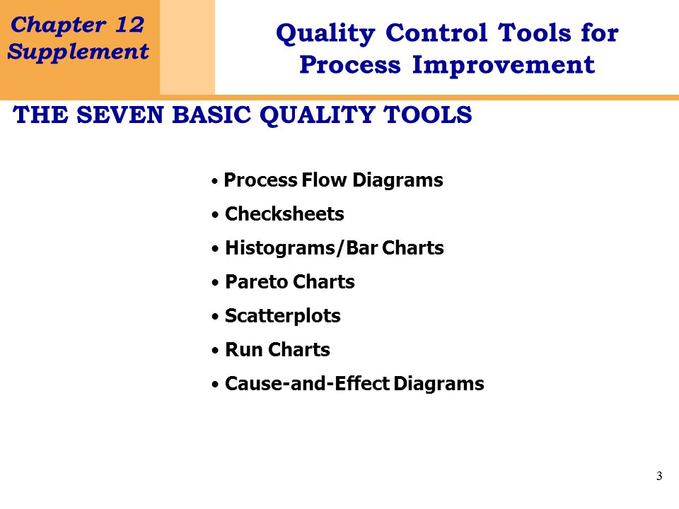 THE SEVEN BASIC QUALITY TOOLS
