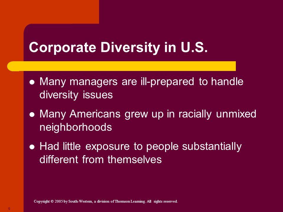 Corporate Diversity in U.S.