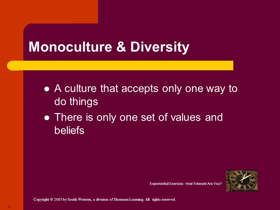 Monoculture & Diversity