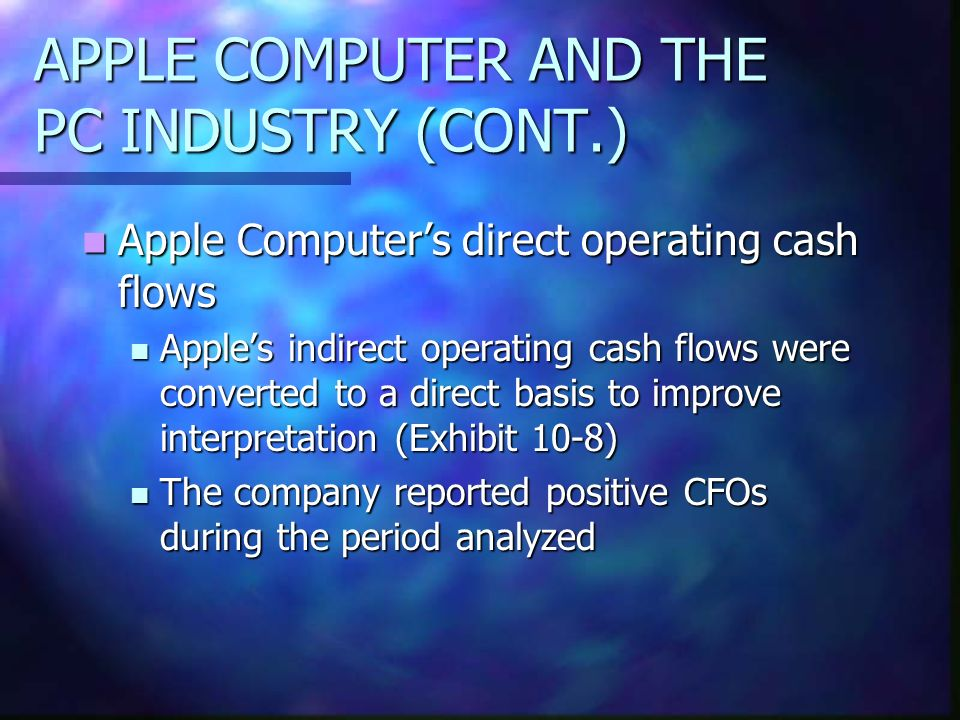 APPLE COMPUTER AND THE PC INDUSTRY (CONT.)