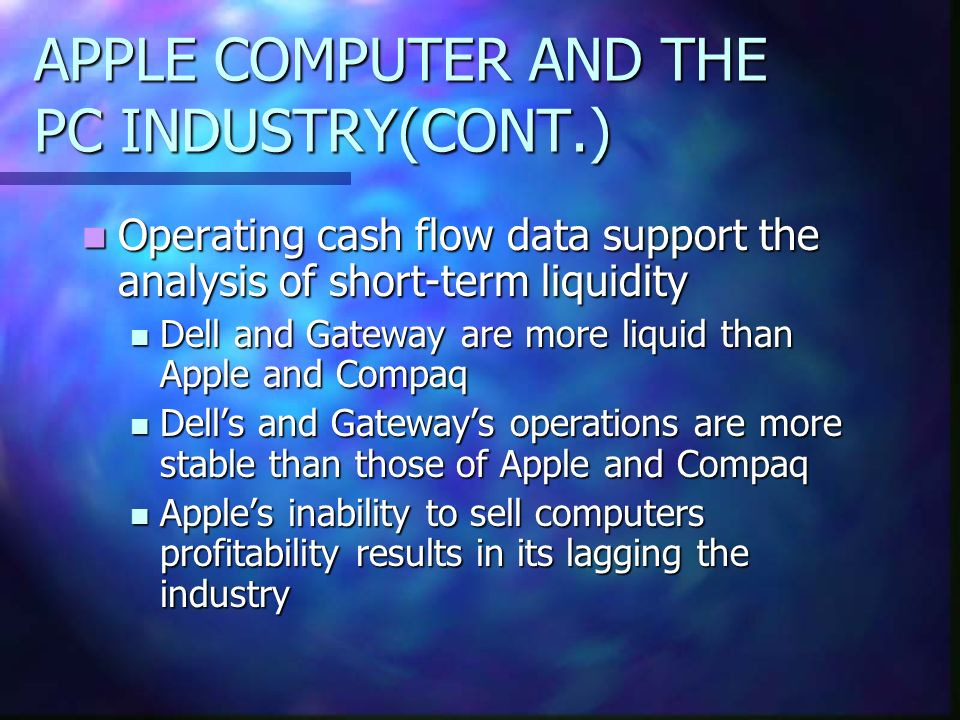 APPLE COMPUTER AND THE PC INDUSTRY(CONT.)
