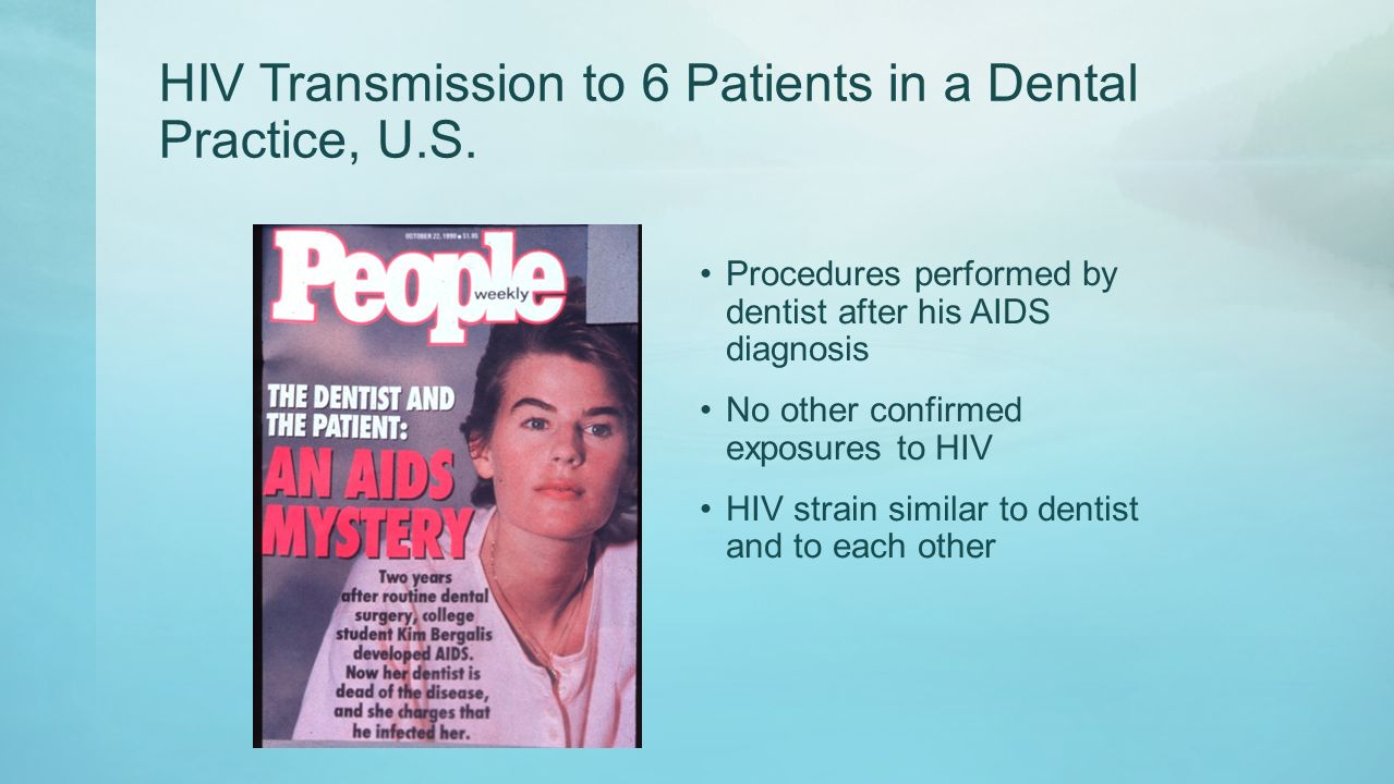 Hiv patients and oral health directly