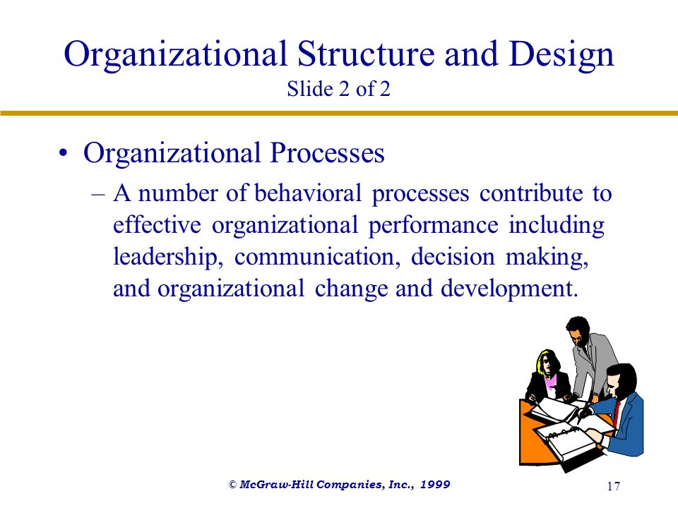 Organizational Structure and Design Slide 2 of 2