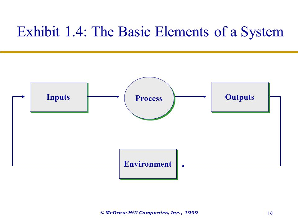 Exhibit 1.4: The Basic Elements of a System