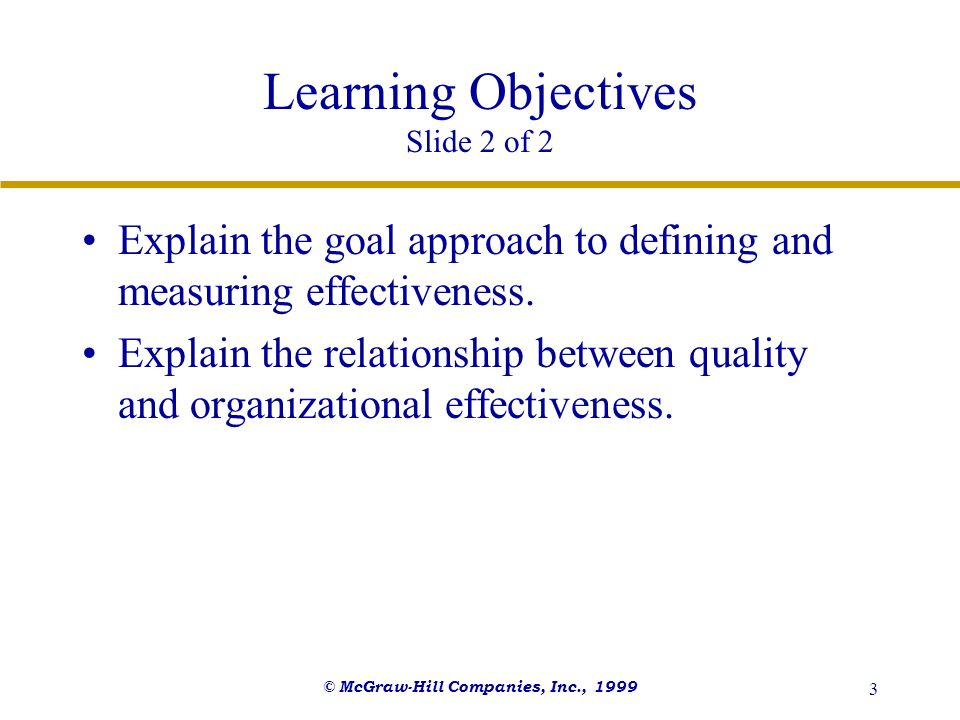 Learning Objectives Slide 2 of 2
