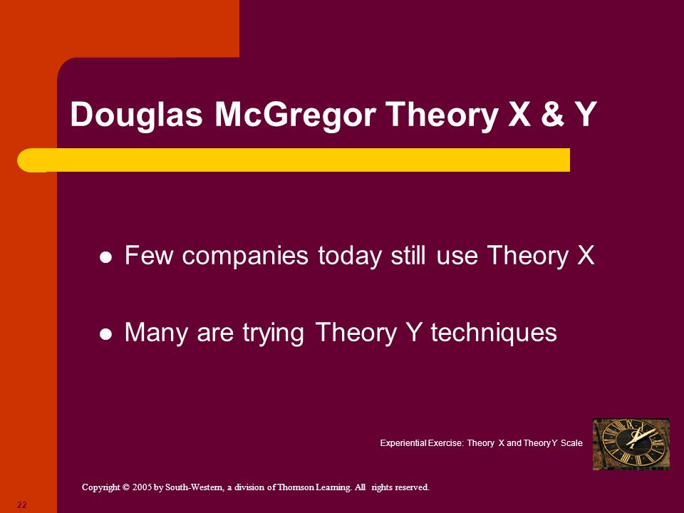 Douglas McGregor Theory X & Y
