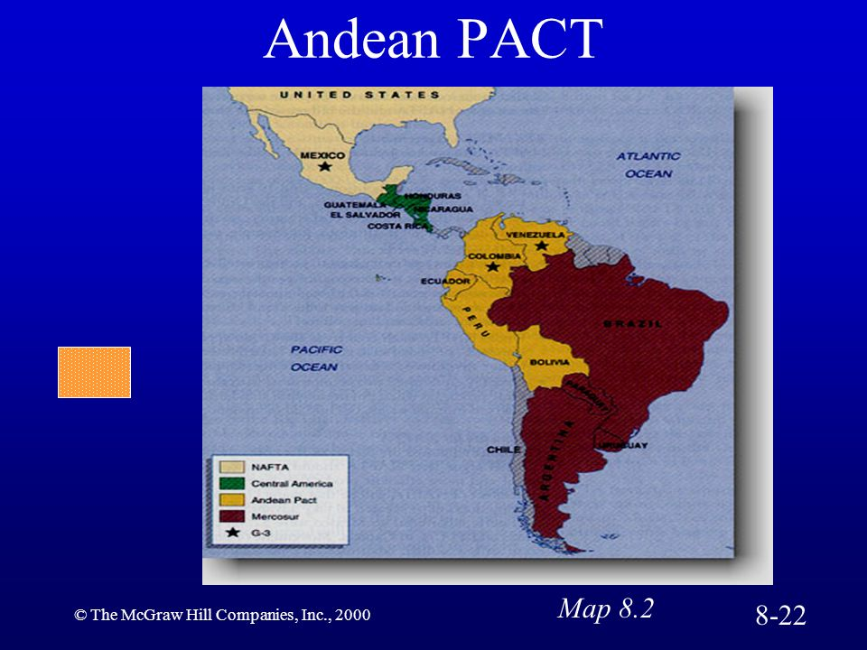 Andean PACT Map 8.2 8-22 © The McGraw Hill Companies, Inc., 2000