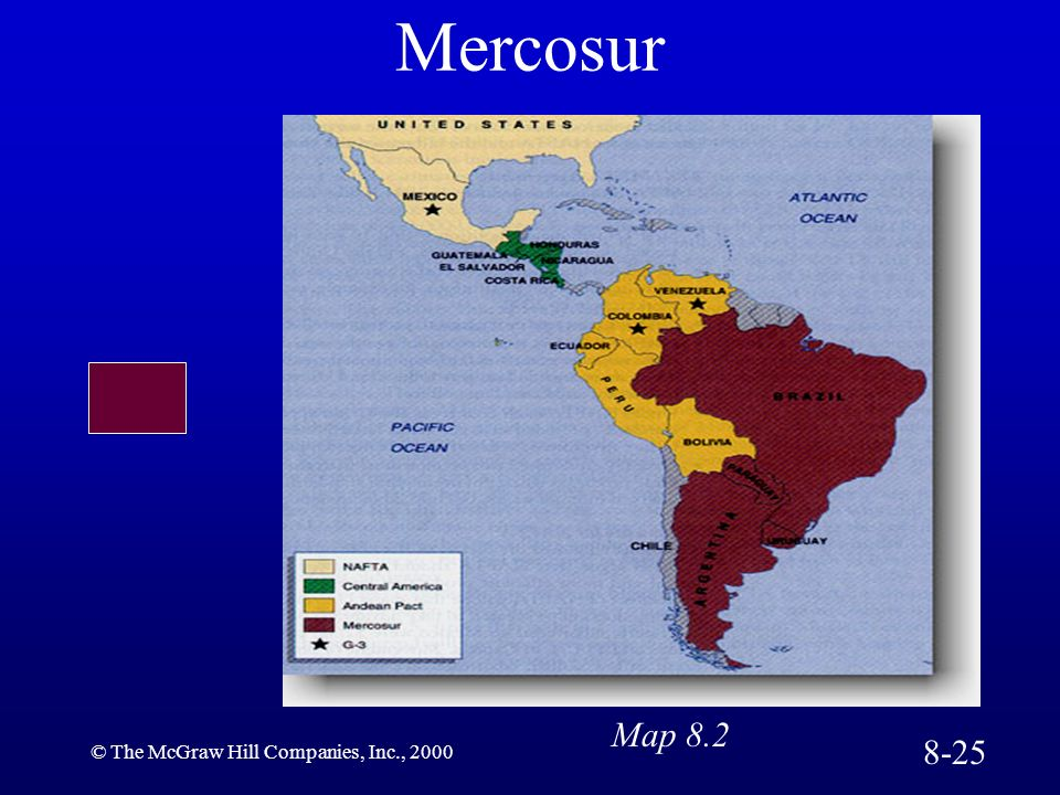 Mercosur Map 8.2 8-25 © The McGraw Hill Companies, Inc., 2000