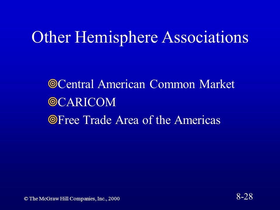 Other Hemisphere Associations