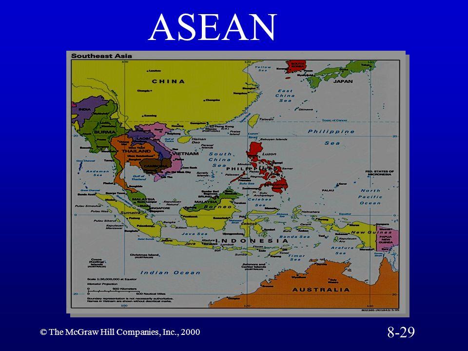 ASEAN 8-29 © The McGraw Hill Companies, Inc., 2000