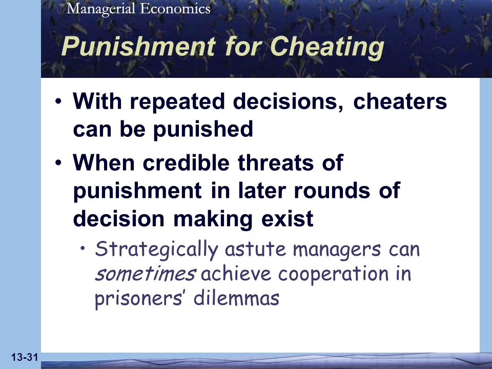 Punishment for Cheating