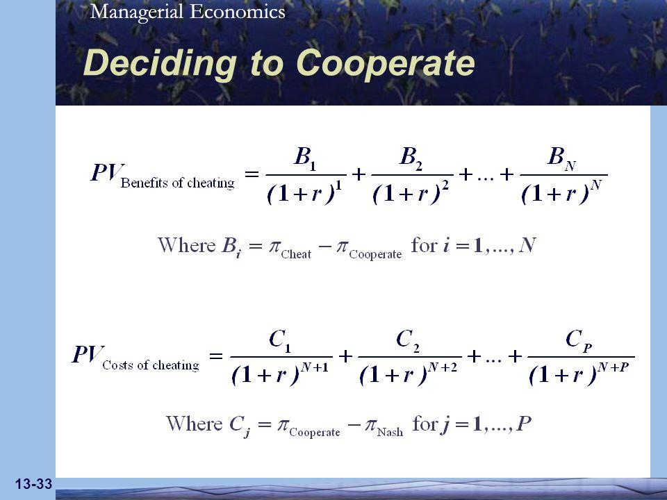 Deciding to Cooperate