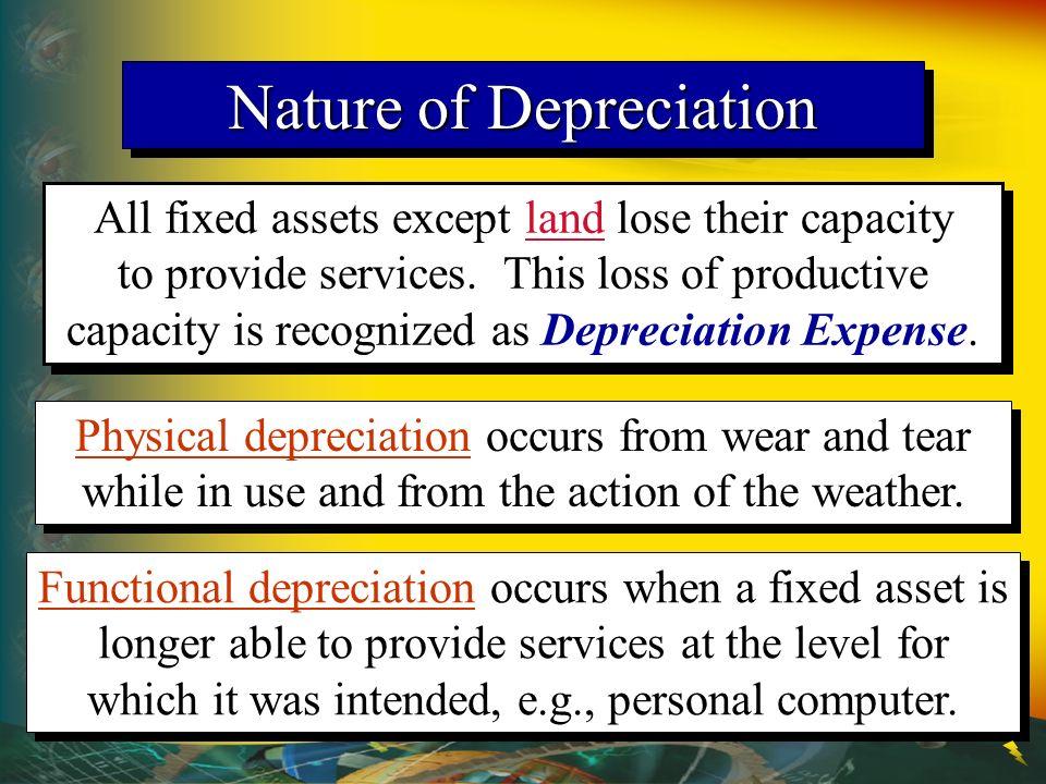 Nature of Depreciation