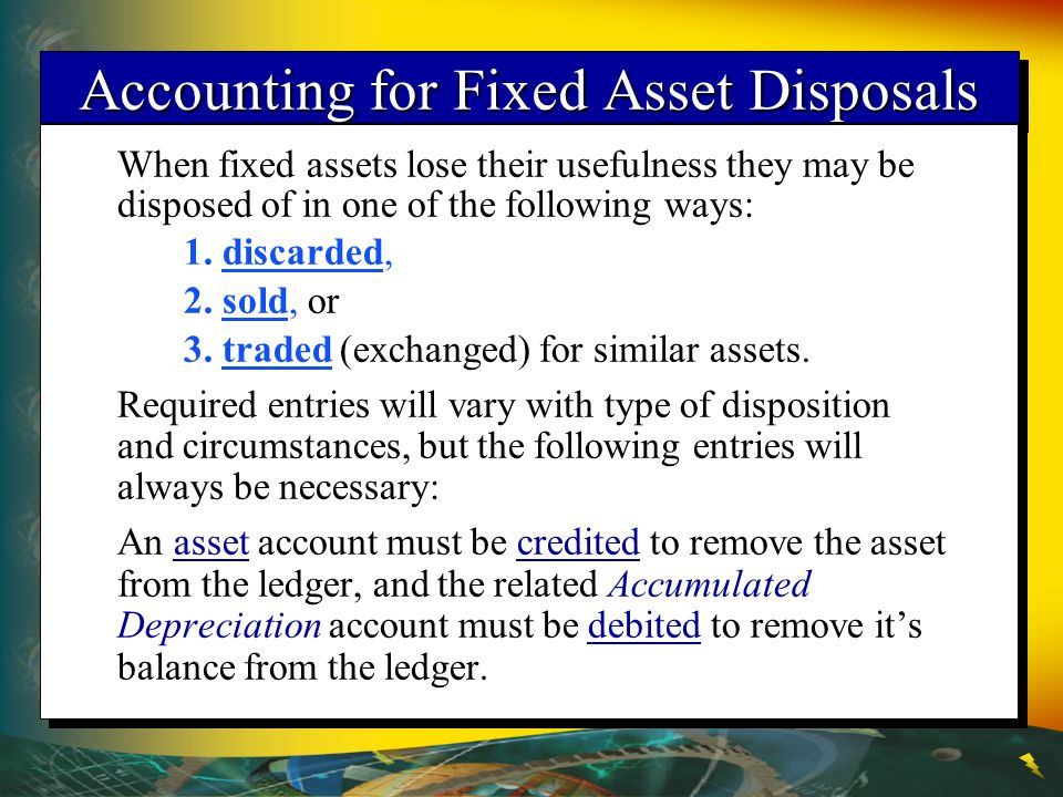 Accounting for Fixed Asset Disposals