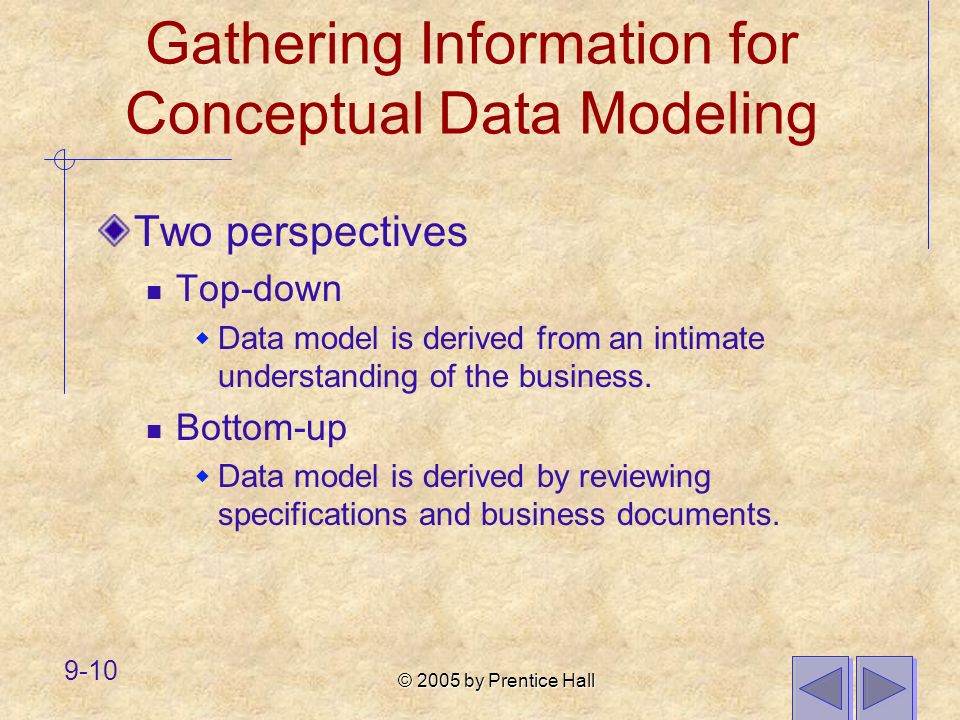 Gathering Information for Conceptual Data Modeling