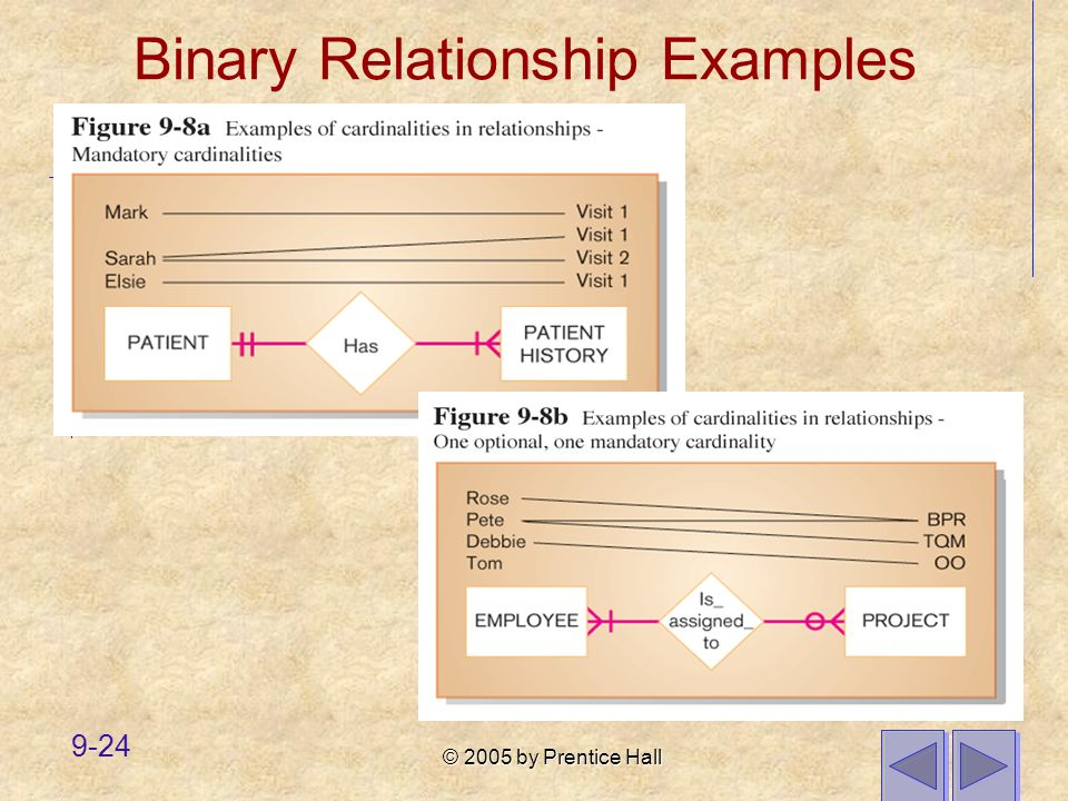 Binary Relationship Examples