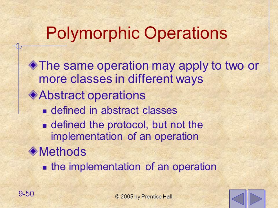 Polymorphic Operations