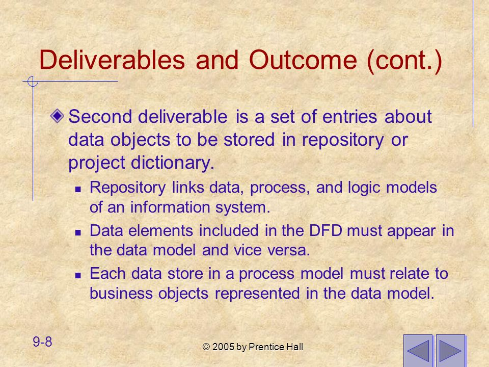 Deliverables and Outcome (cont.)