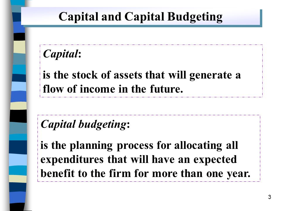 Capital and Capital Budgeting