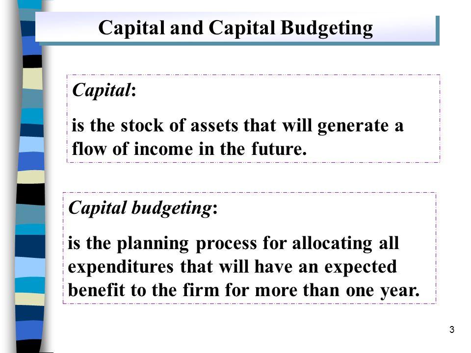 Capital and Capital Budgeting