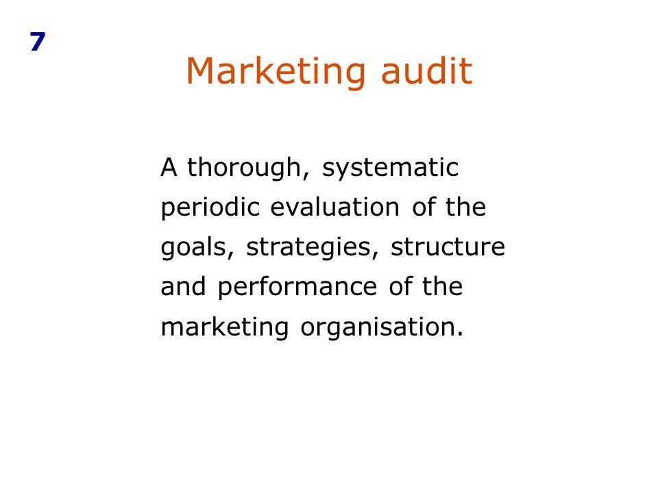 7Marketing audit.