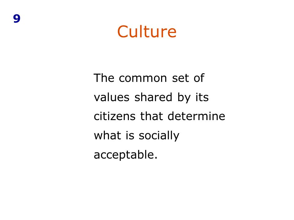 9 Culture.