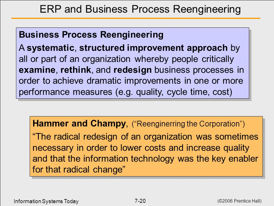 ERP and Business Process Reengineering