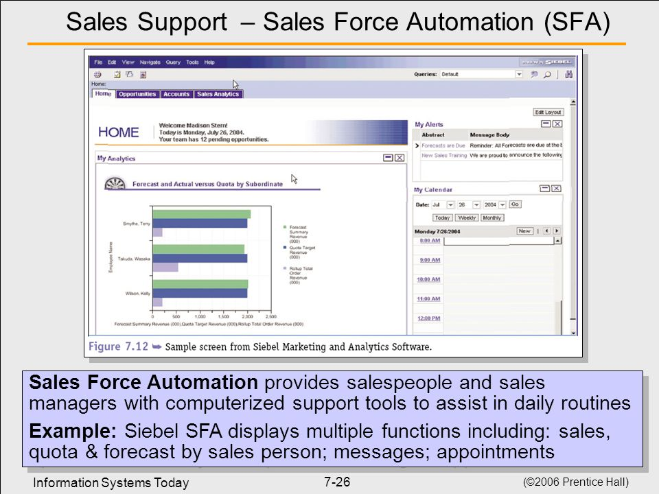 Sales Support – Sales Force Automation (SFA)