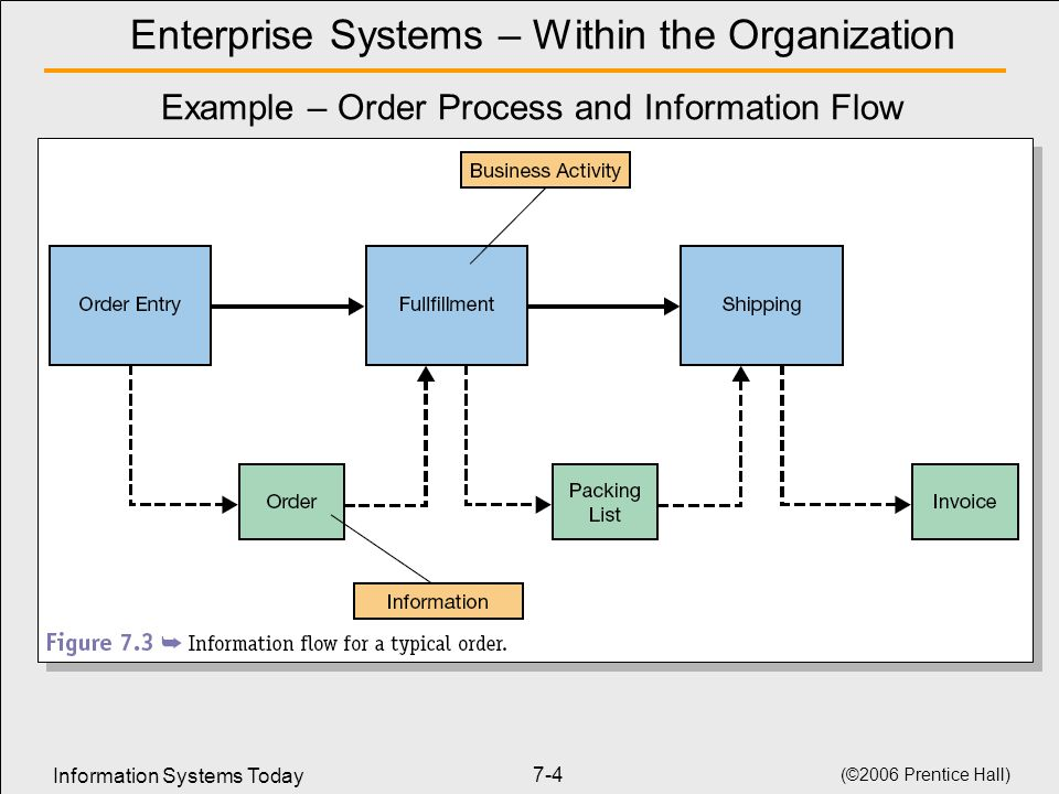 Enterprise Systems – Within the Organization