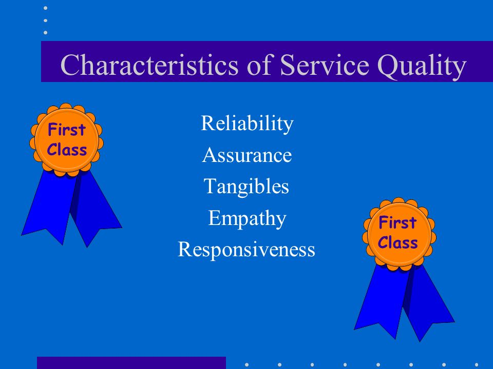 Characteristics of Service Quality