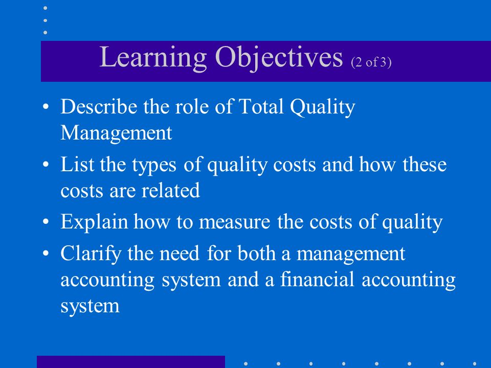Learning Objectives (2 of 3)