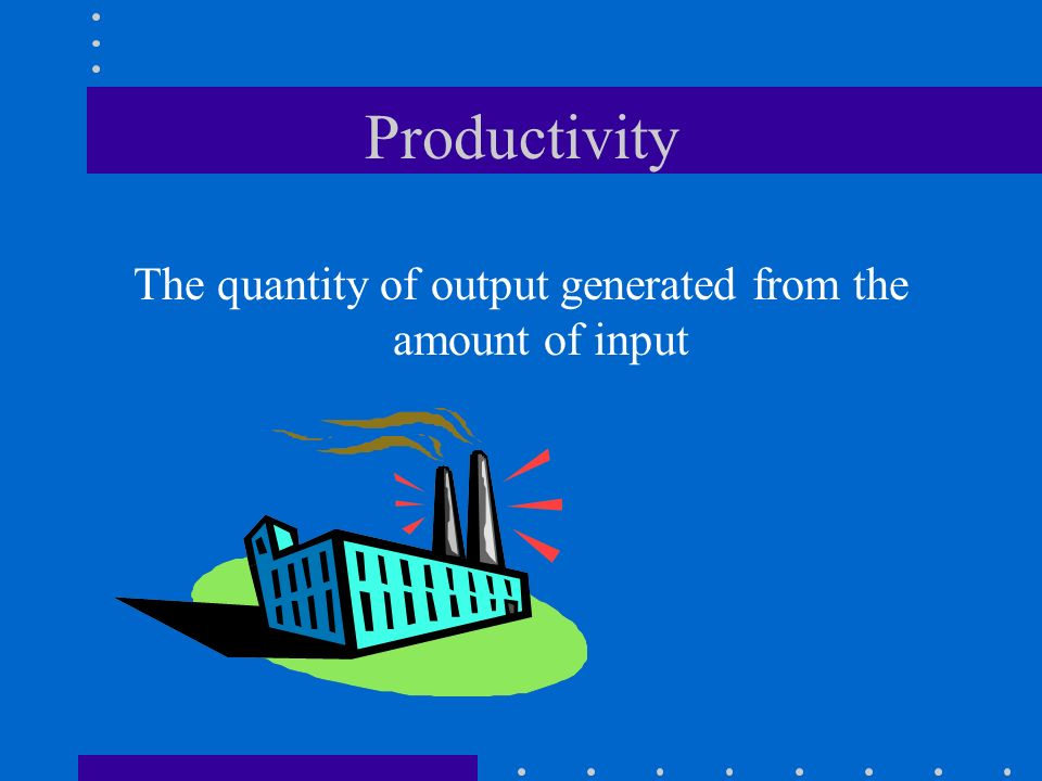 The quantity of output generated from the amount of input