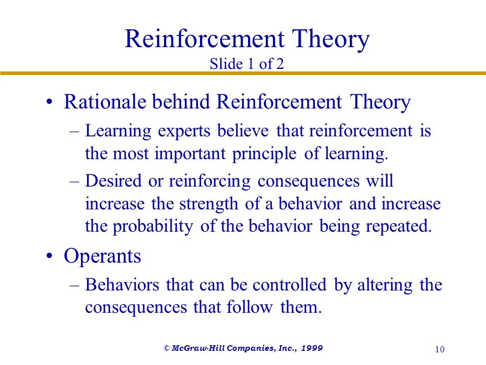 Reinforcement Theory Slide 1 of 2