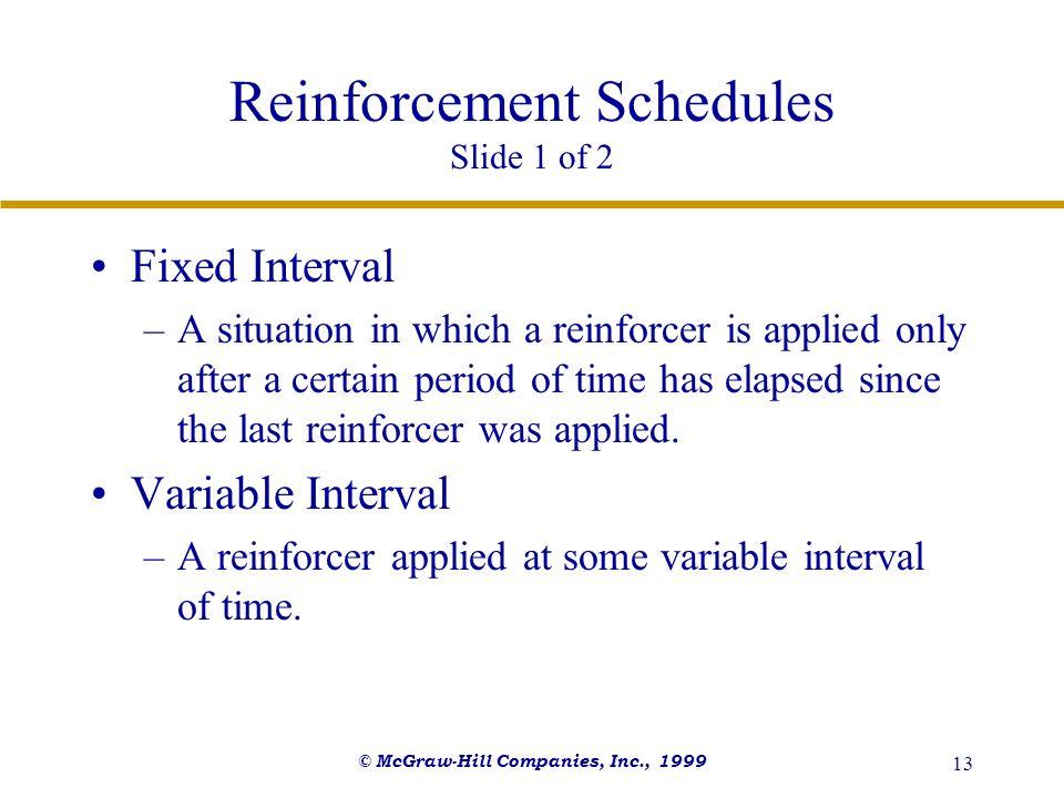 Reinforcement Schedules Slide 1 of 2
