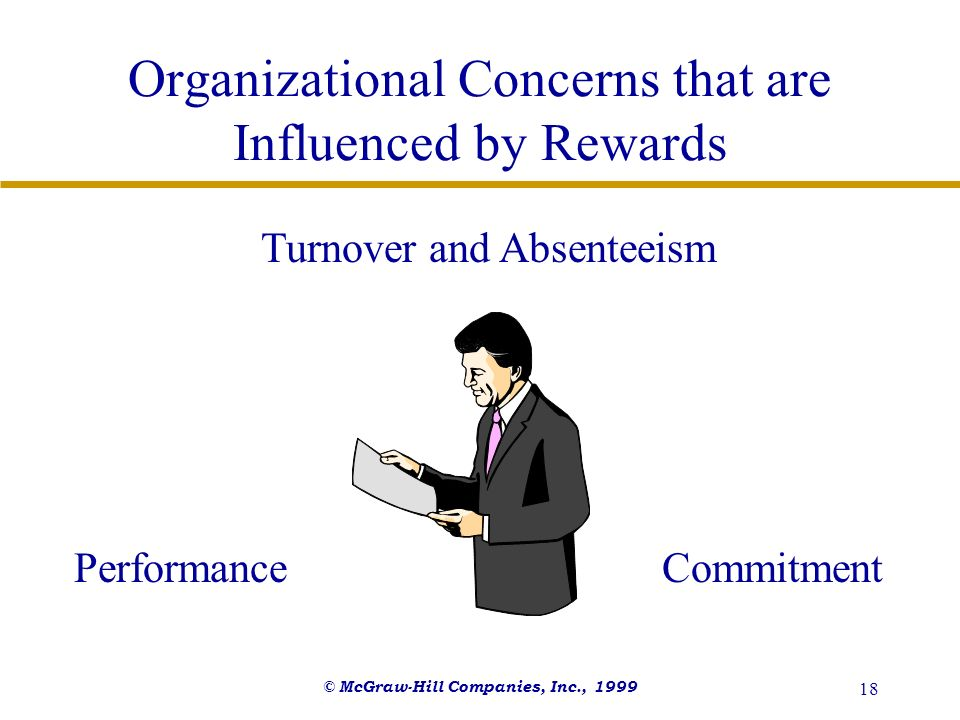 Organizational Concerns that are Influenced by Rewards