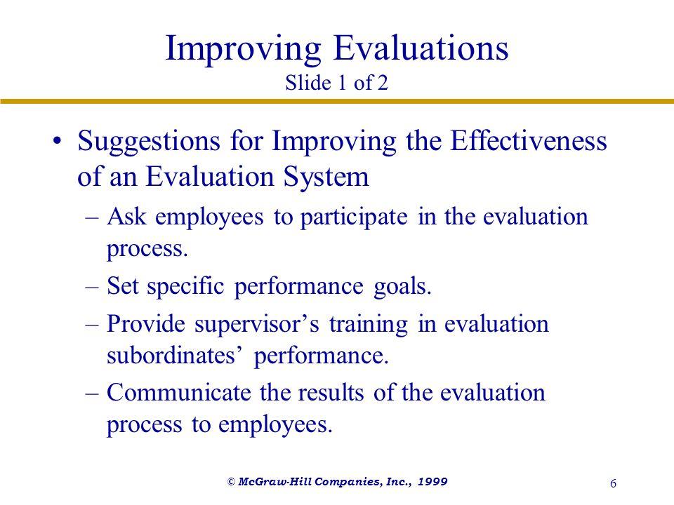 Improving Evaluations Slide 1 of 2