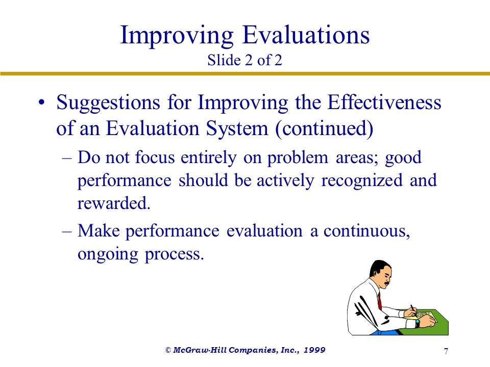 Improving Evaluations Slide 2 of 2