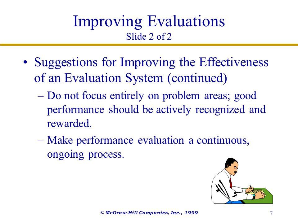 Improving Evaluations Slide 2 of 2