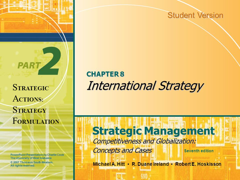 CHAPTER 8 International Strategy