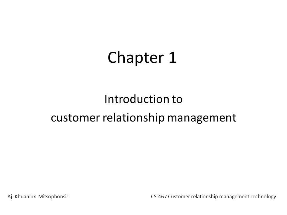introduction to relationship management