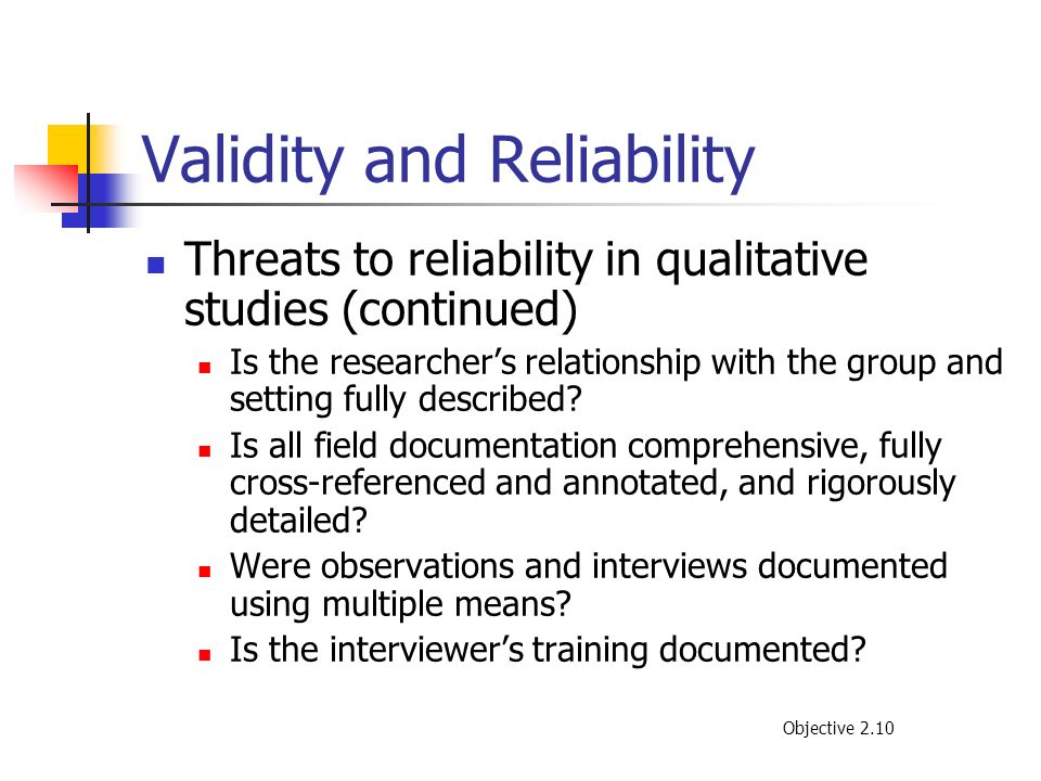 Validity and Reliability