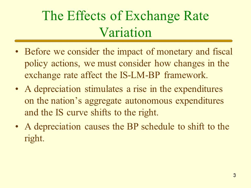 The Effects of Exchange Rate Variation