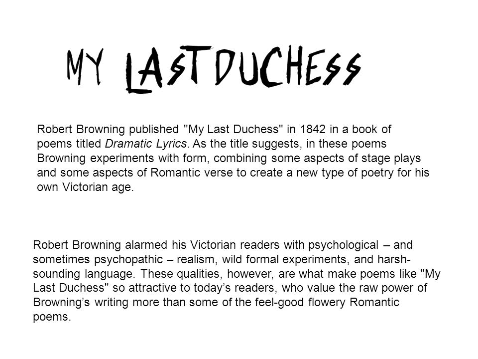my last duchess poem essay