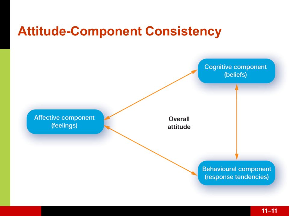 Attitude-Component Consistency