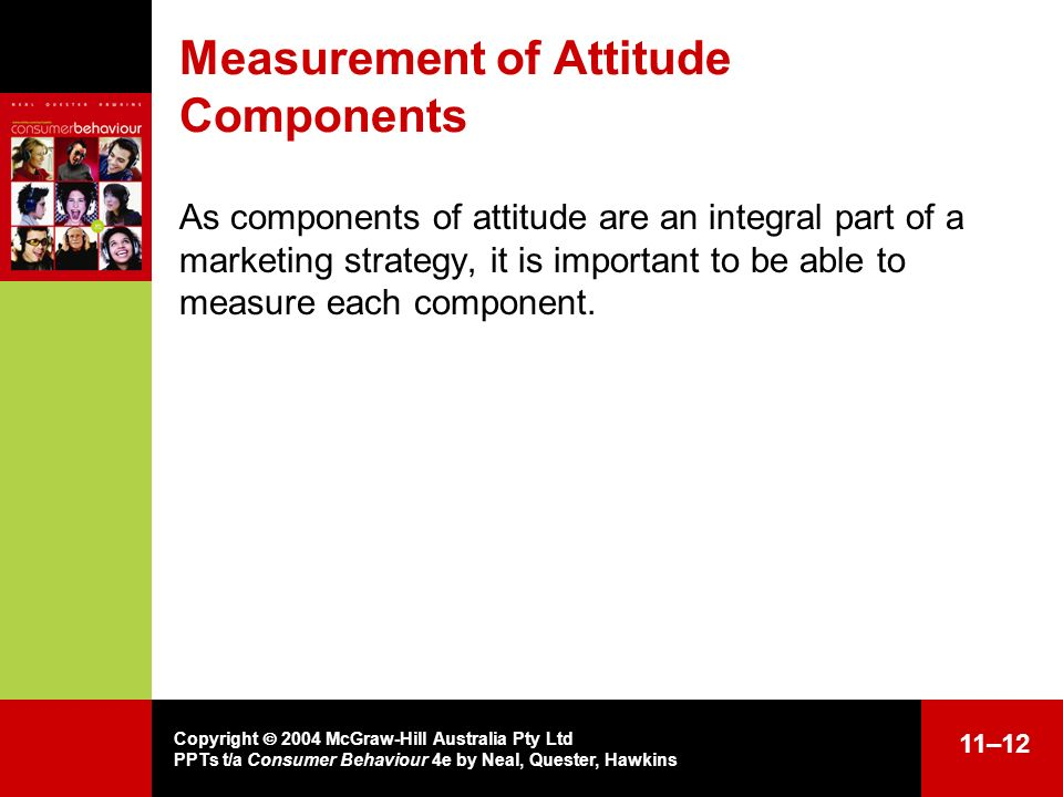 Measurement of Attitude Components